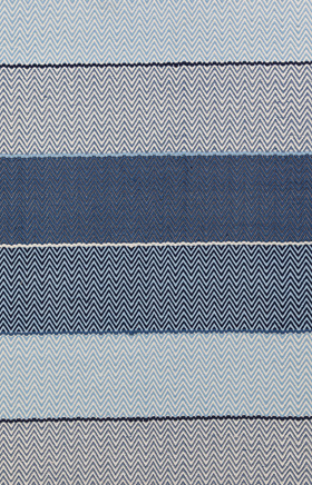 Braided Rugs Siena Blue and Beige