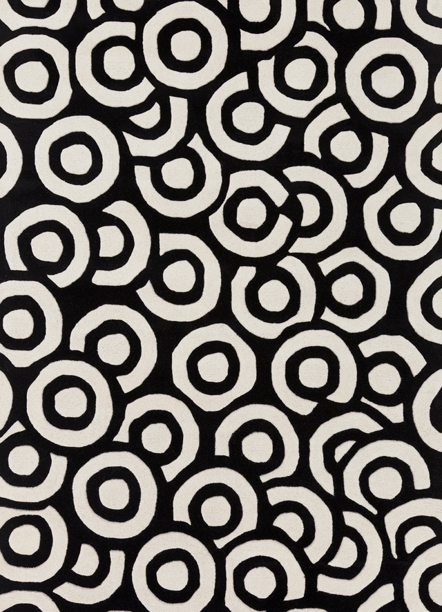 contemporary rugs davin black and white 7x10 imported wool