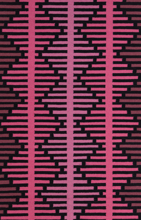 Contemporary Rugs Lima Black and Pink
