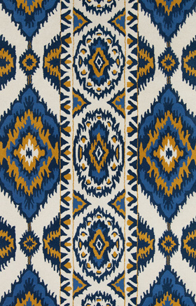 Southwestern Rugs Davin Beige and Blue