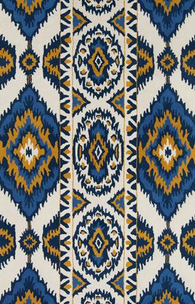 Southwestern Rugs Davin Beige and Blue