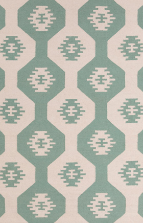 Southwestern Rugs Lima Green and Beige