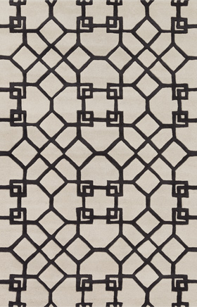 Traditional Rugs Davin Black and Beige