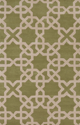 Transitional Rugs Davin Green and Beige