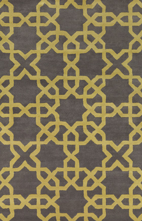 Transitional Rugs Davin Brown and Yellow