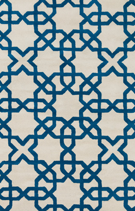 Transitional Rugs Davin Blue and Beige