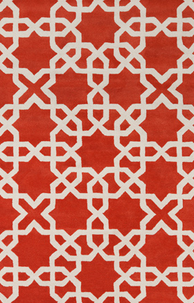 Transitional Rugs Davin Red and Beige