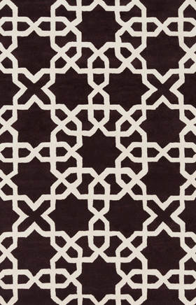 Transitional Rugs Davin Black and Beige