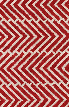 Transitional Rugs Davin Red and White