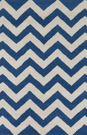 Transitional Rugs Davin Navy Blue and White