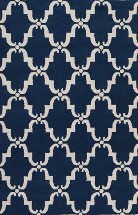 Transitional Rugs Davin Navy Blue