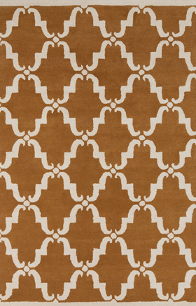 Transitional Rugs Davin Brown and White