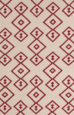 Transitional Rugs Lima Beige and Red