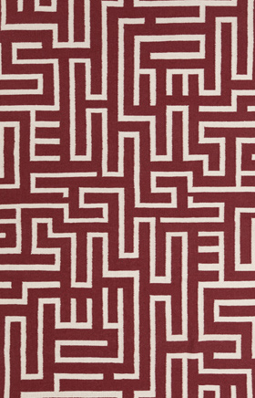 Transitional Rugs Lima Red and Beige