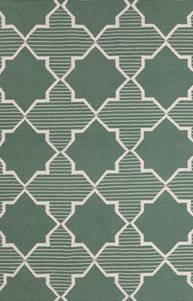 Transitional Rugs Lima Green and Beige