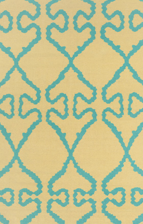 Transitional Rugs Lima Yellow and Blue