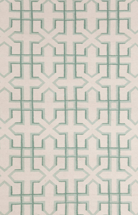 Transitional Rugs Lima White and Green