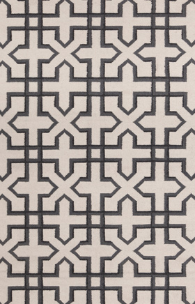 Transitional Rugs Lima White and Black