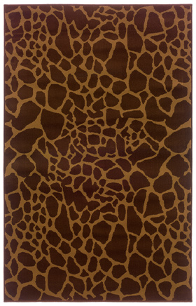 Animal Print Rugs Amelia Brown 11042