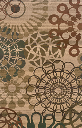Contemporary Rugs  Odyssey Beige 11182