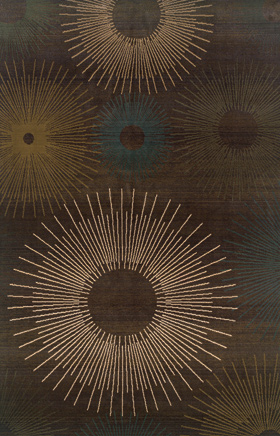 Contemporary Rugs  Odyssey Brown 11184