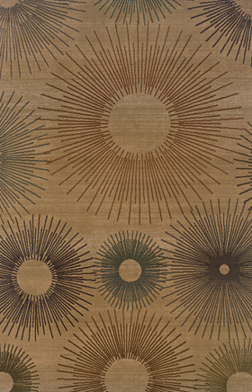 Contemporary Rugs  Odyssey Beige 11185