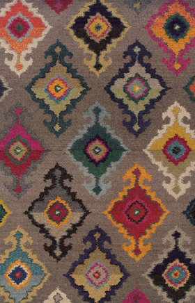 Contemporary Rugs  Kaleidoscope Grey 11410