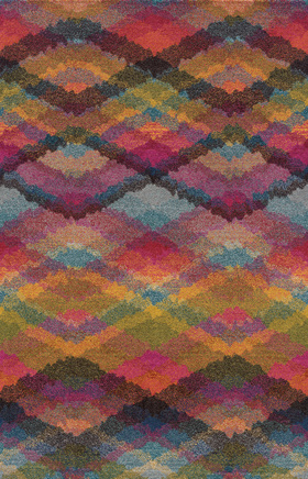 Contemporary Rugs  Kaleidoscope Multicolor 11414