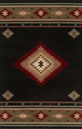 Southwestern Rugs Hudson Black 11562