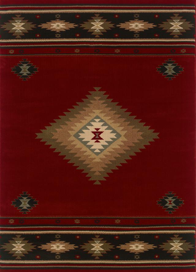 Southwestern Sphinx Rugs Oriental Weavers Hudson Red 11565