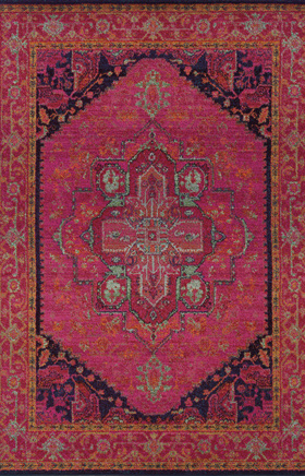 Traditional Rugs Kaleidoscope Pink 11606