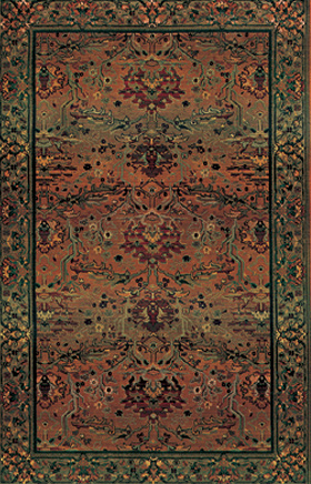 Traditional Rugs Kharma Green 11613