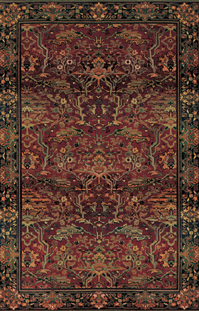 Traditional Rugs Kharma Red 11614