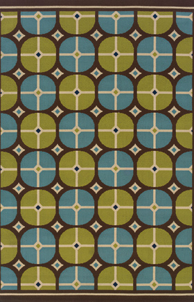Contemporary Rugs Caspian Brown 11691