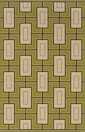 Contemporary Rugs Caspian Green 11693