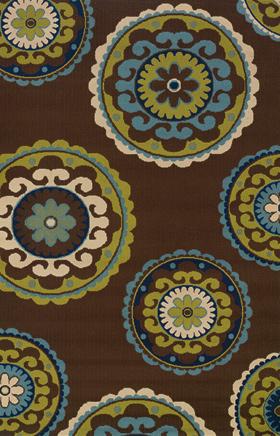 Contemporary Rugs Caspian Brown 11694