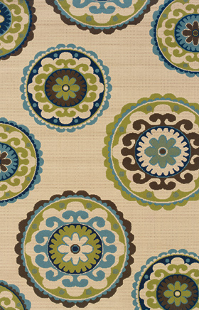 Contemporary Rugs Caspian Ivory 11695