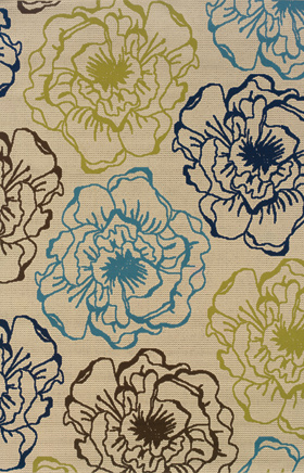 Floral Rugs Caspian Ivory 11719