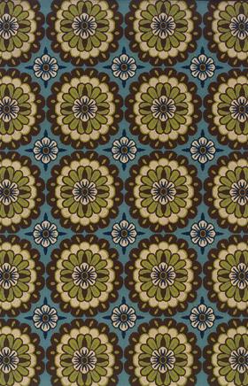 Floral Rugs Caspian Blue 11723