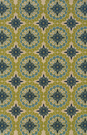 Floral Rugs Caspian Green 11724