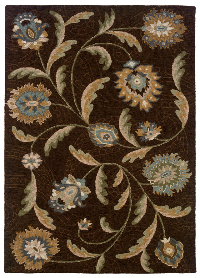 Transitional Sphinx Rugs Oriental Weavers Eden Brown 11783 Wool