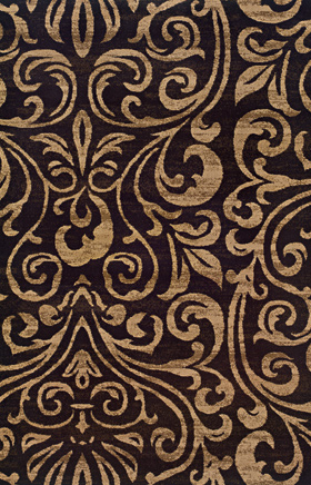 Transitional Rugs Emerson Black 11788