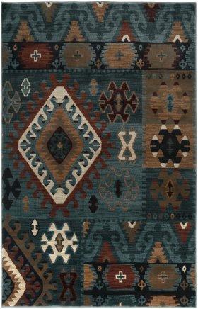 Southwestern Rugs Bellevue Blue 11921