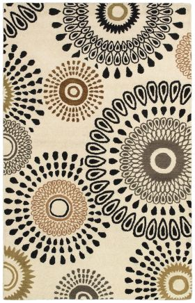 Contemporary Rugs Pandora White 12306