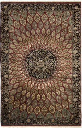 Traditional Rugs Puria Burgundy  12317