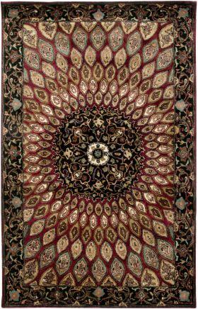Traditional Rugs Shine Burgundy 12374