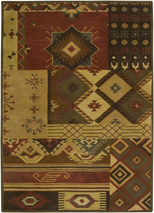 Southwestern Rizzy Rugs Southwest Brown Wool