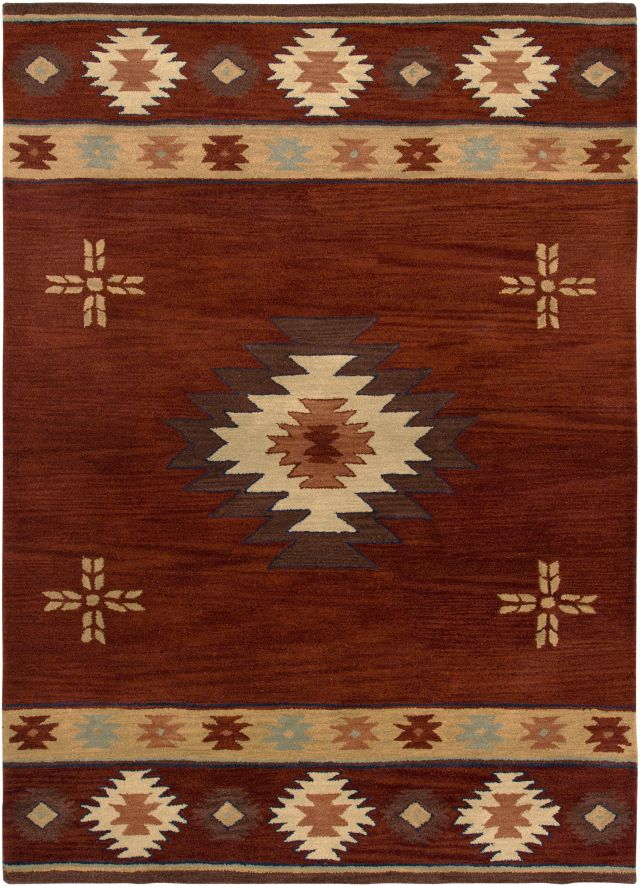 Southwestern Rizzy Rugs Southwest Red Wool