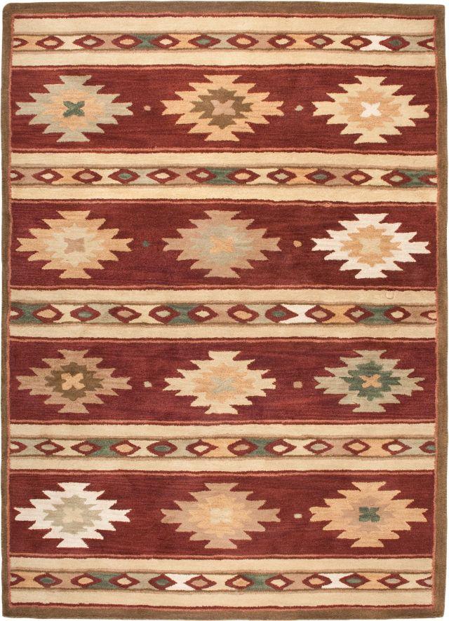 Southwestern Rizzy Rugs Southwest Red Wool