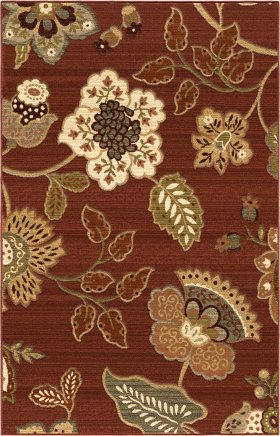 Transitional Orian Rugs Anthology Burgundy 12575